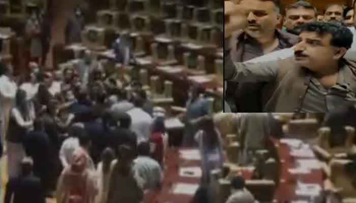 sindh-assembly-turns-into-a-wrestling-ring-as-pti-lawmakers-beat-up-rebel-party-members